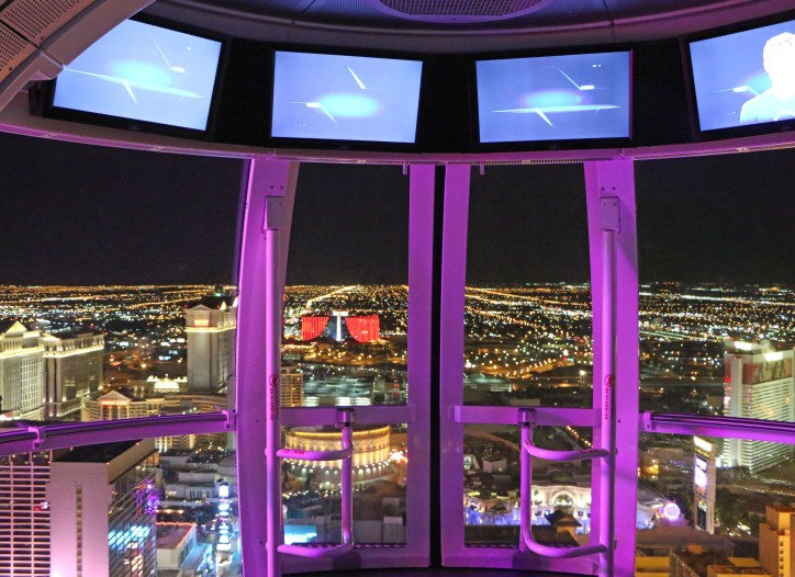 stunning view from the High Roller Las Vegas