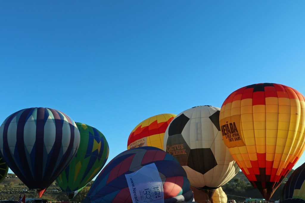 Baloons ready for Mass Ascension at Reno Hot Air Baloon Race