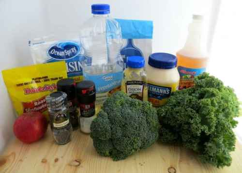 Fall Kale Super Salad Poppy Seed Process Ingredients