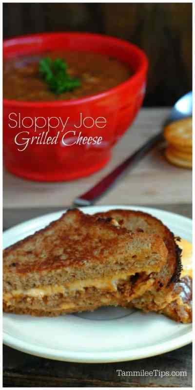 Easy homemade Sloppy Joe Grilled Cheese Sandwich Recipe! The perfect comfort food.