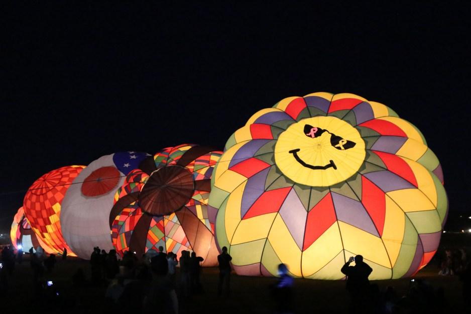 filling baloons for Dawn Patrol Reno Hot Air Baloon Race