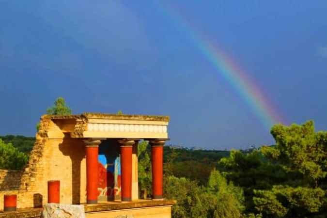 Minoan Palace of Knossos on the Island of Crete Greece