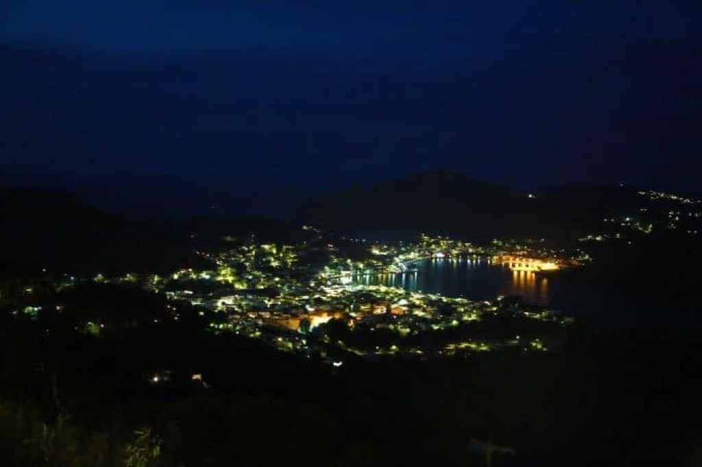 Blog Patmos Greece at night