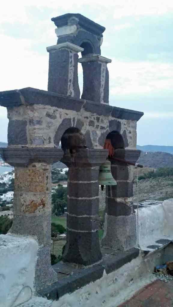 Blog church bells in Patmos Greece