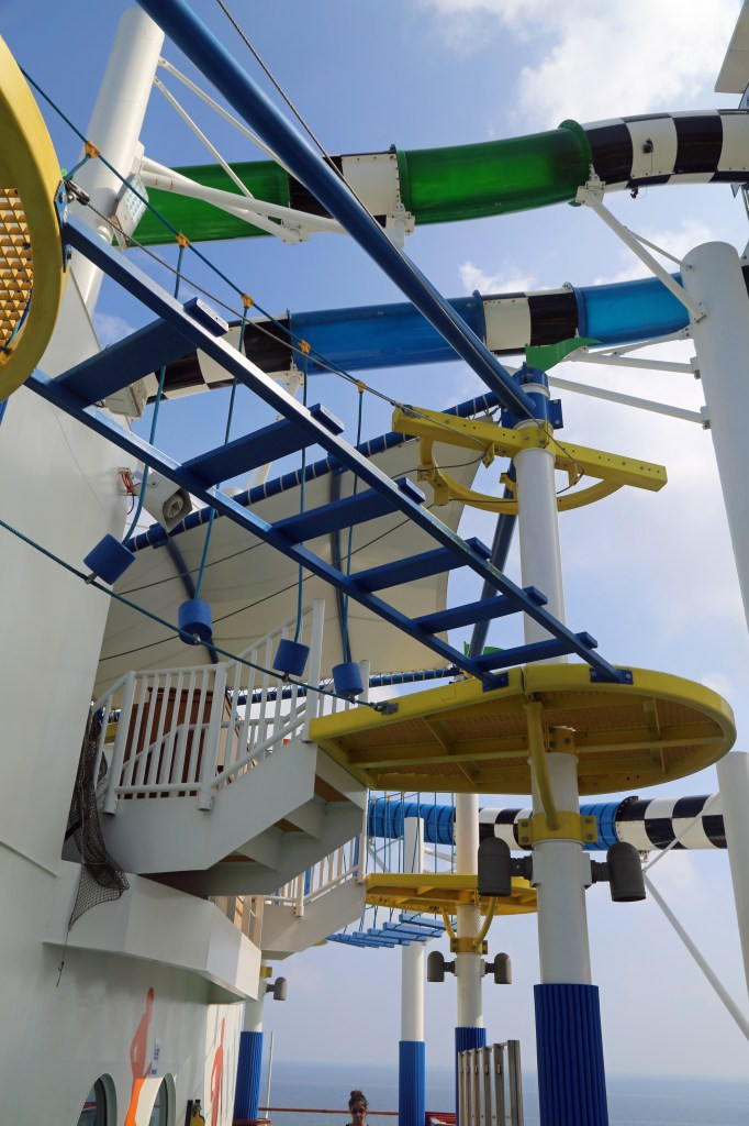 Ropes Course on the sports deck of the Carnival Sunshine