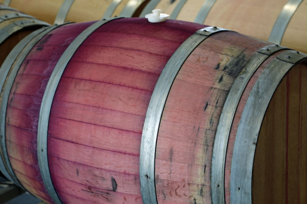 Wine Barrel at Adamant Cellars