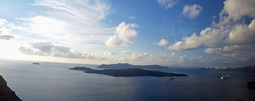 panarama of Santorini Greece