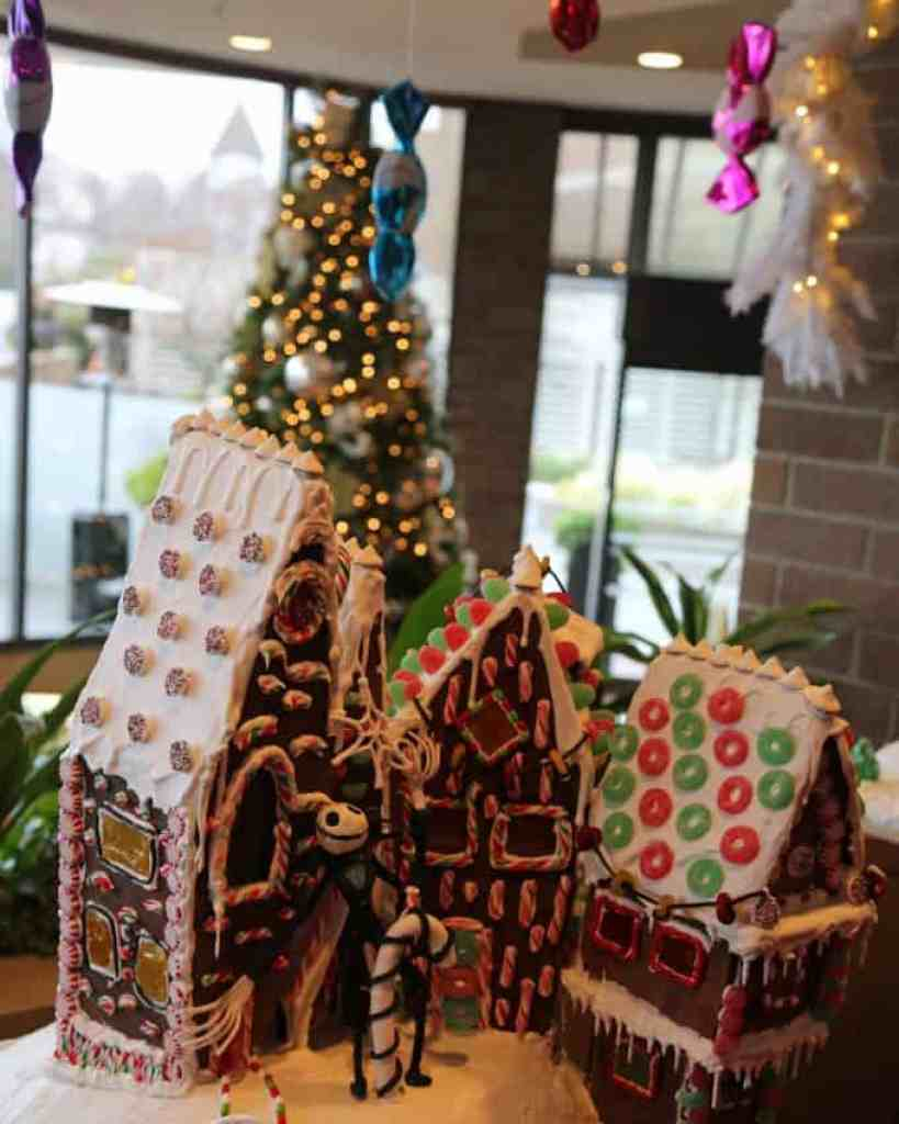 Blog gingerbread house at the Inn at Laurel Point Victoria BC