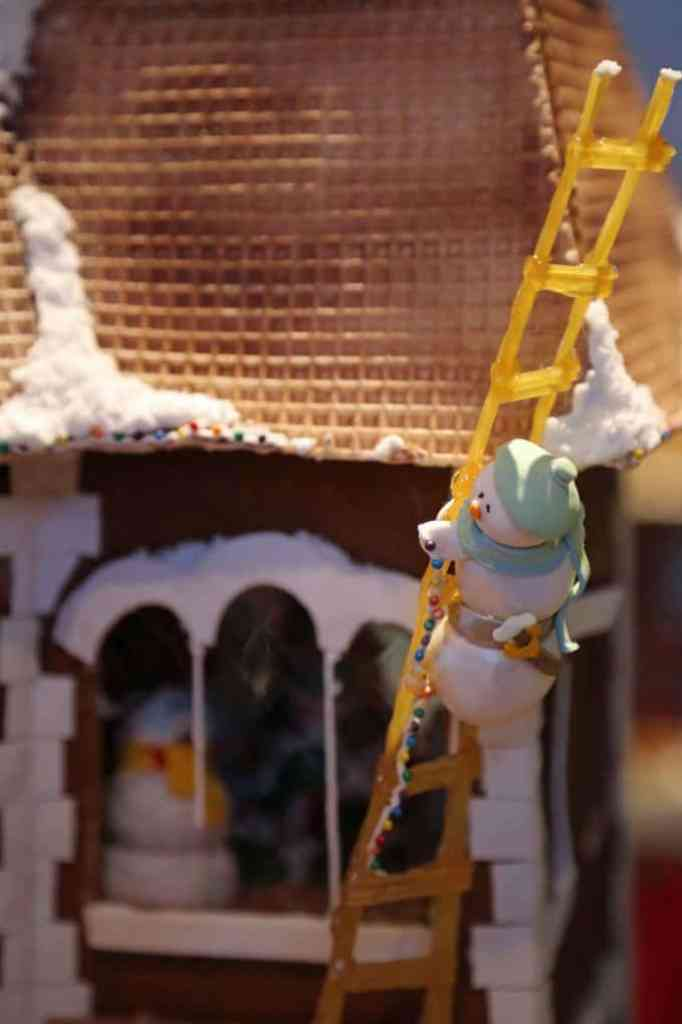Blog snowman climbing ladder