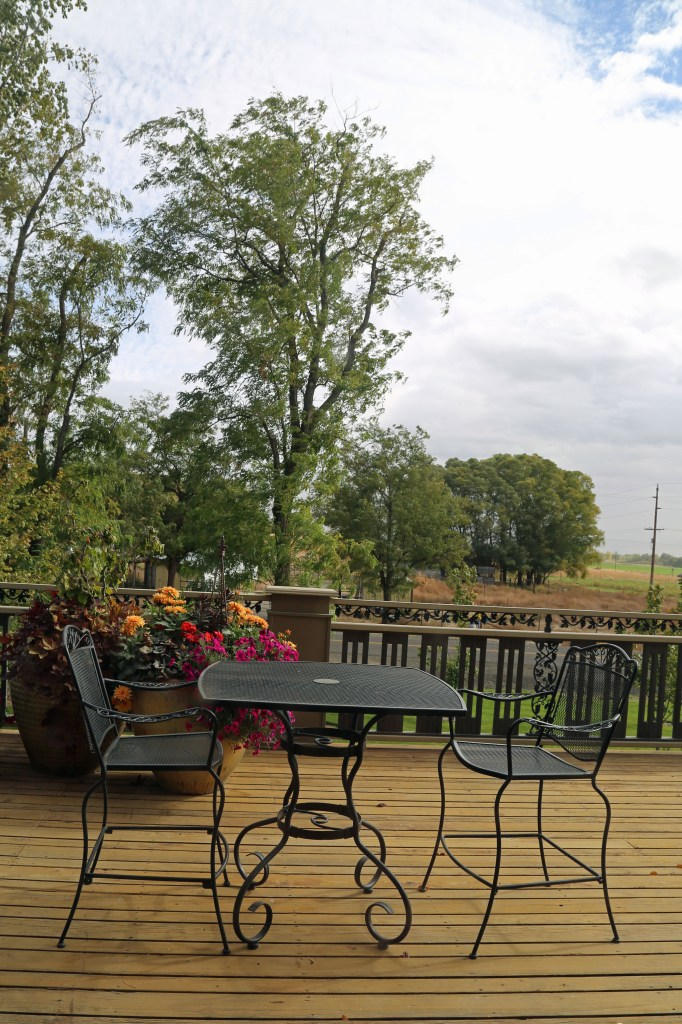 Outside Seating at L`Ecole No 41 Winery