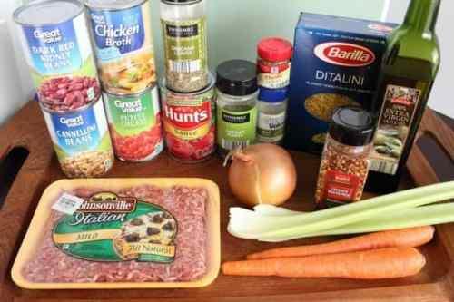 Copy Cat Olive Garden Pasta e Fagioli Soup Recipe Ingredients