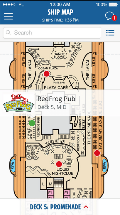 Carnival App Ship Map
