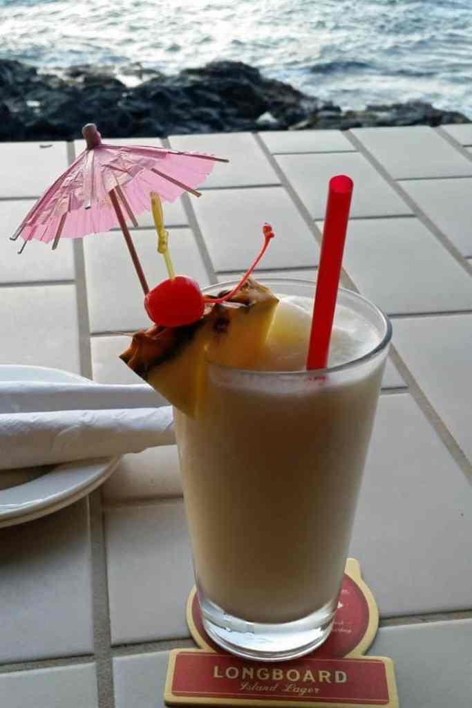 Pina Colada at Don the Beachcombers Kona Hawaii