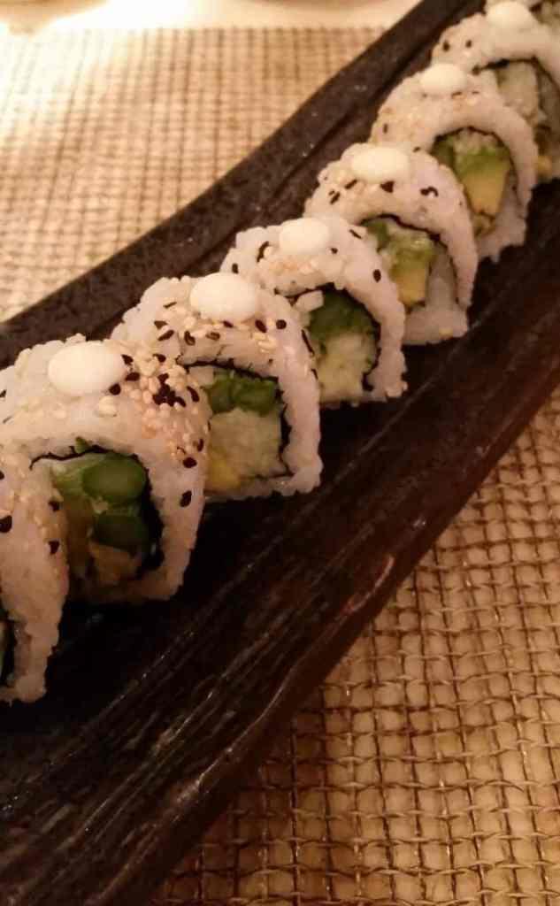 sushi rolls at Bonsai Sushi