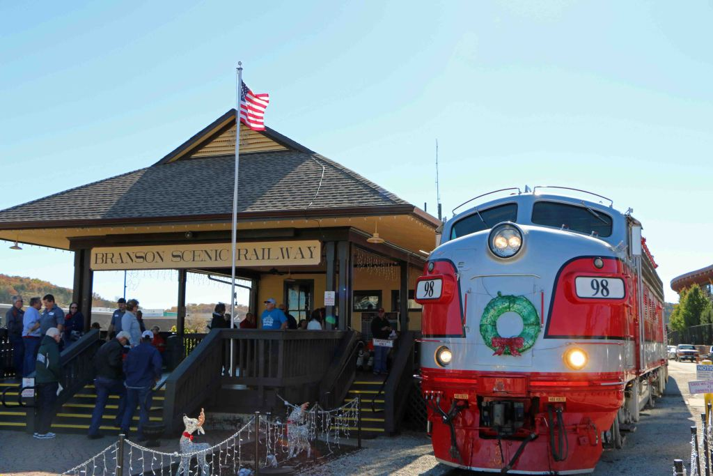 Blog Train at station Branson Scenic Railway