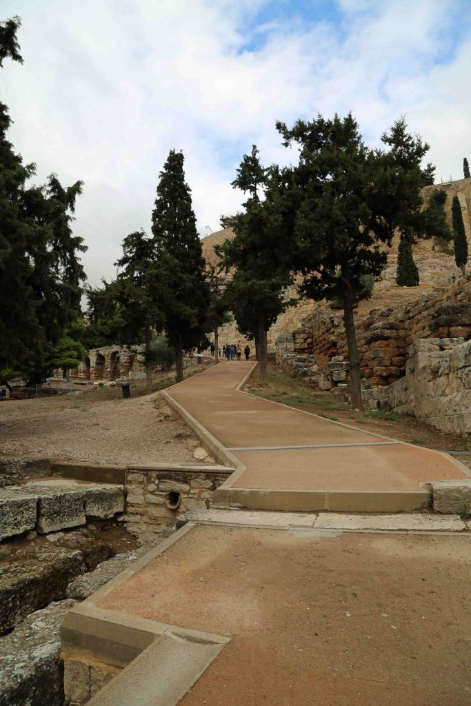Blog walk up the hill at the Acropolis