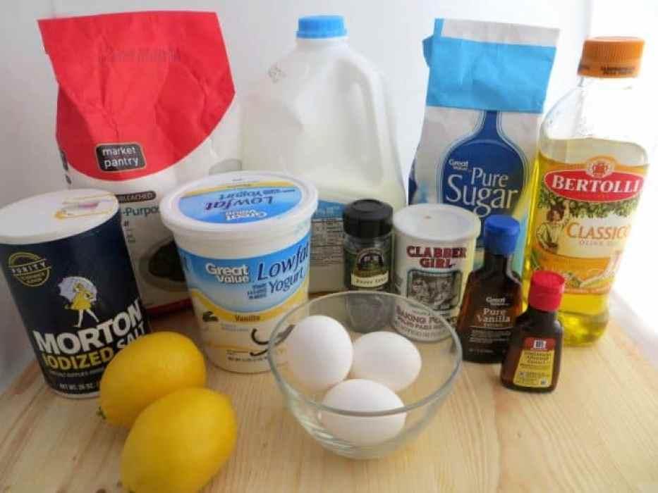 Lemon Almond Poppy seed Bread Recipe Ingredients