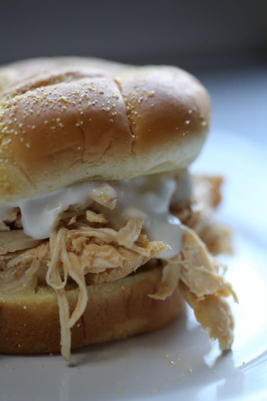 Crock Pot Buffalo Chicken Sandwich