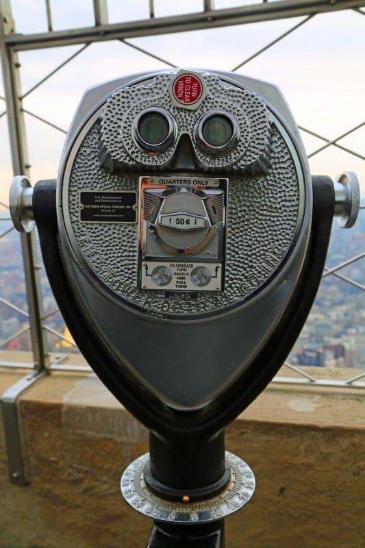 Binoculars at Empire State Building