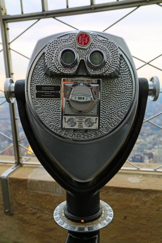 Binoculars at Empire State Building