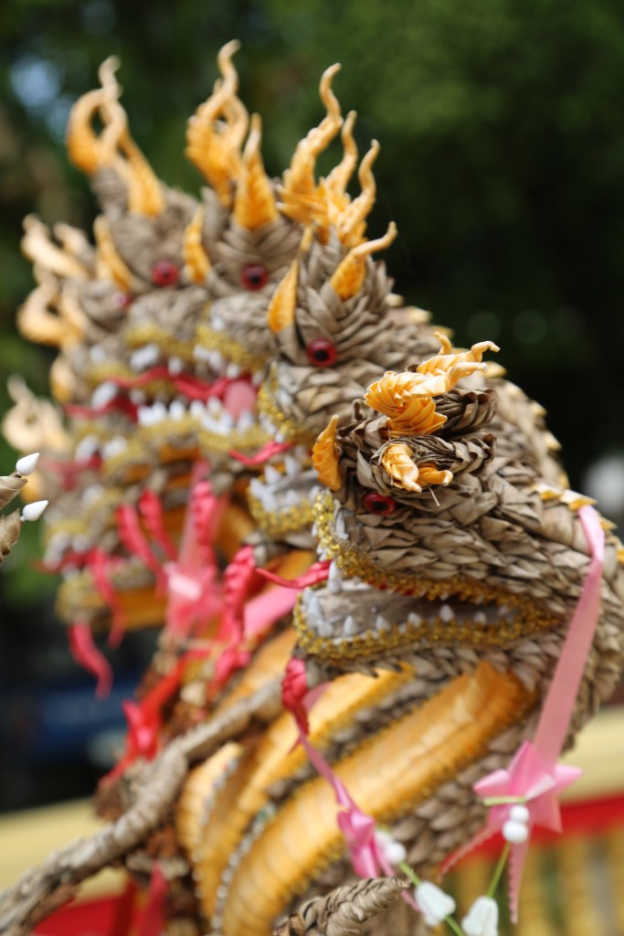 Chaing Khan Thailand temple offering up close