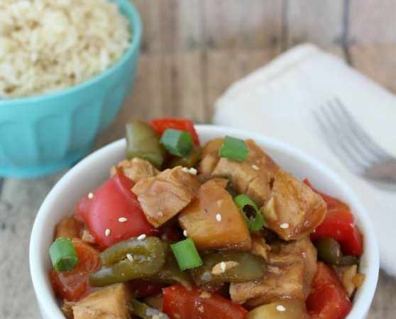 Slow Cooker Crock Pot Sweet and Sour Chicken Recipe