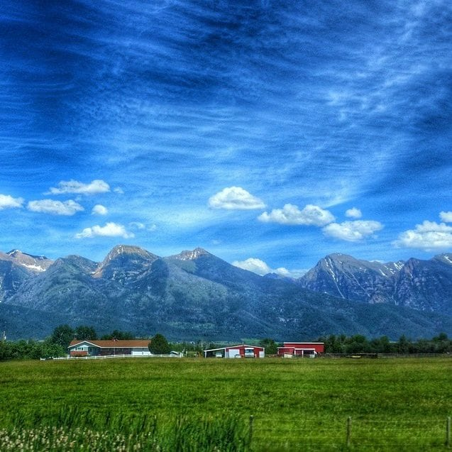 sawtooth mountains enroute to Glacier National park