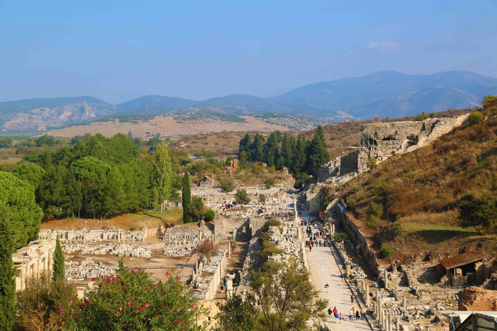 Blog Looking down on Ephesus Turkey
