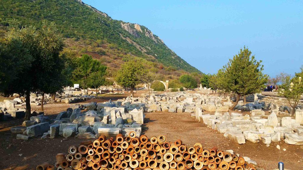 Blog pipes for plumbing in Ephesus Turkey
