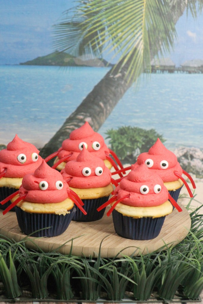 Super Cute Crab Cupcakes