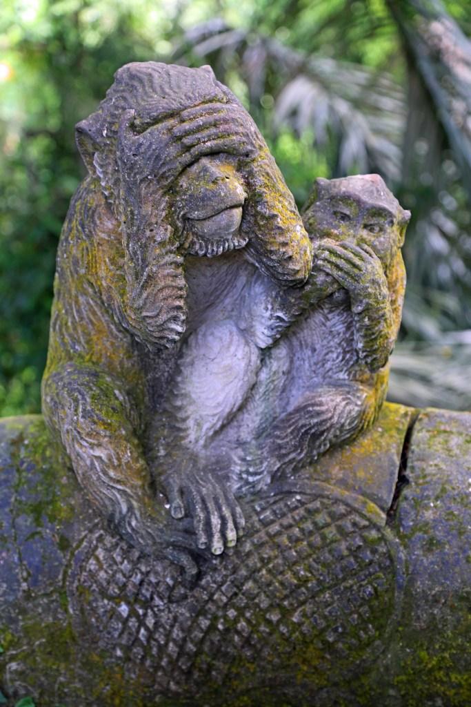 Monkey statue at Ubud Monkey Forest
