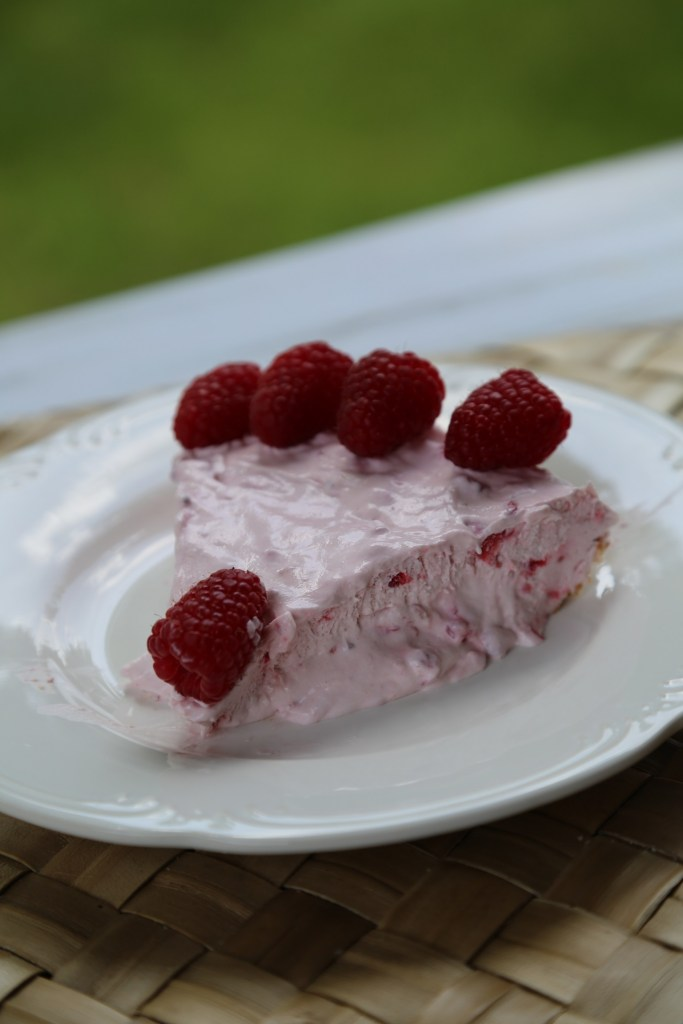 Raspberry No Bake Pie Recipe 3