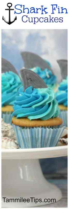 How to Make Shark Week inspired Easy DIY Shark Cupcakes! The perfect cupcake to celebrate Shark Week, Under the sea Ocean kids birthday party,