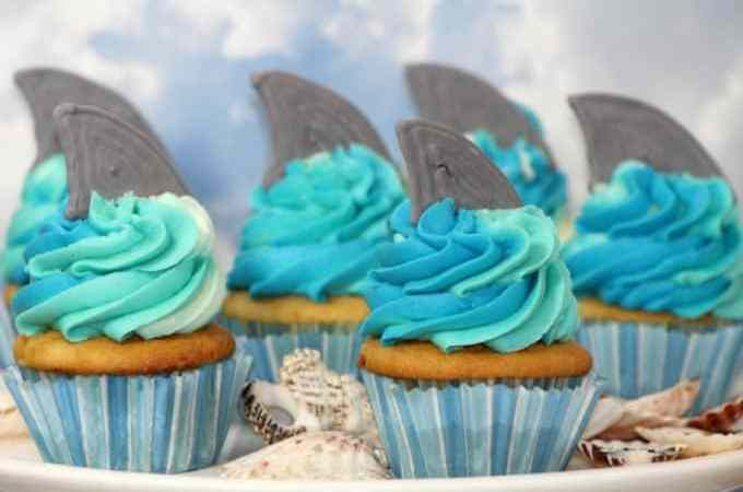 Shark Week inspired Shark Cupcakes!