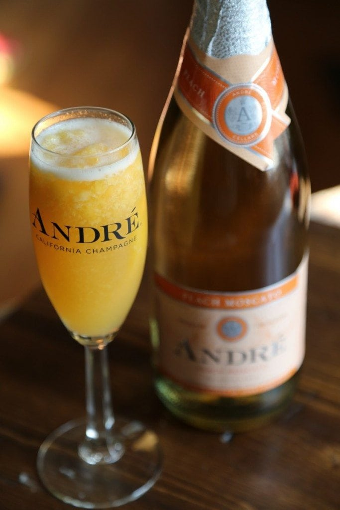 Frosty Andre Peach Moscato Cocktail Recipe!