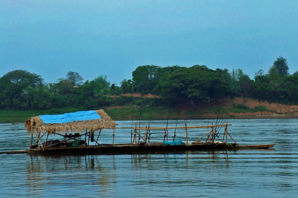 fishing barge on the Mekong River