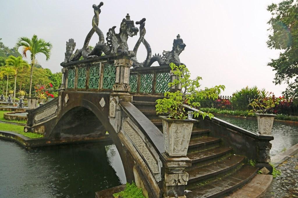Bridge in the Water Palace Bali