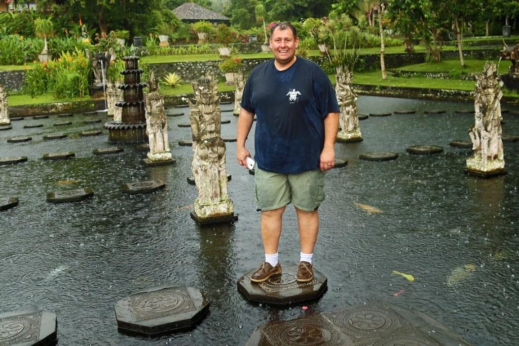 John Having Fun at the Water Palace