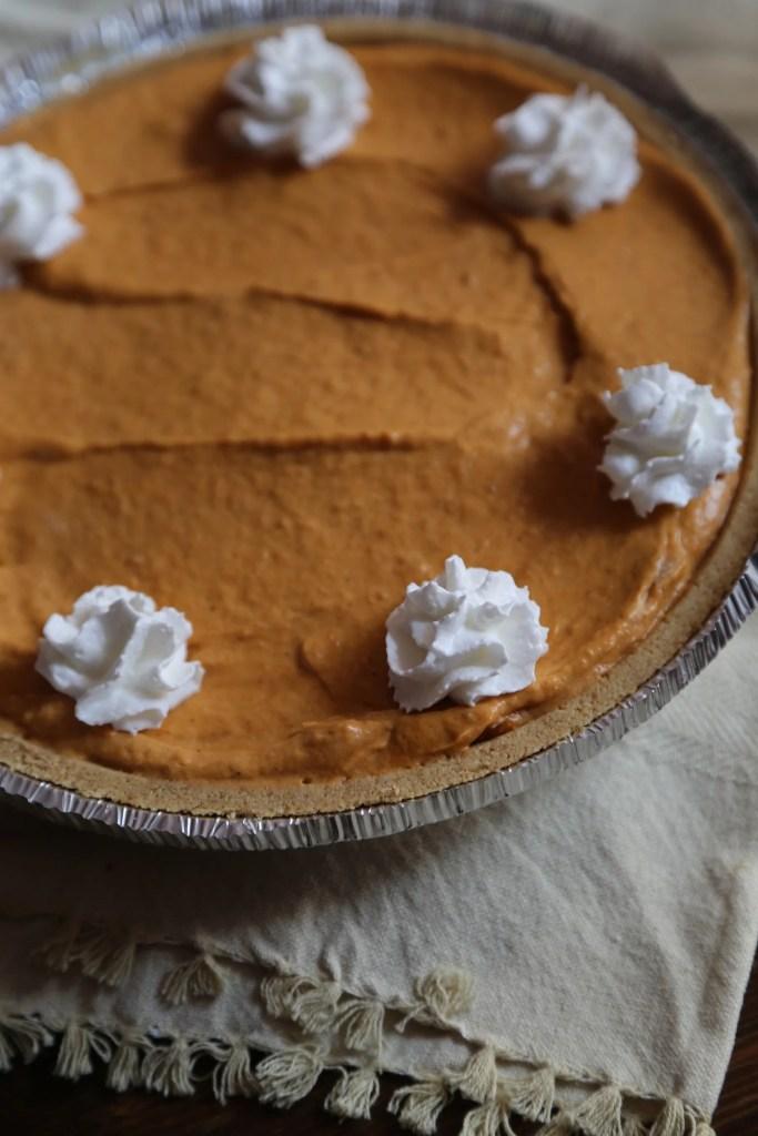 No Bake Pumpkin Butterscotch Pie