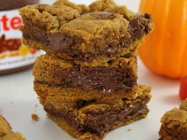 Pumpkin Nutella Bars Recipe