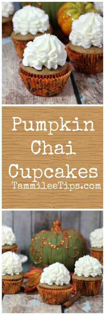 Delicious Pumpkin Chai Cupcakes Recipe are perfect for fall, harvest parties, Halloween or any day you need a pumpkin fix. Made from scratch these cupcakes are easy to make and taste amazing.
