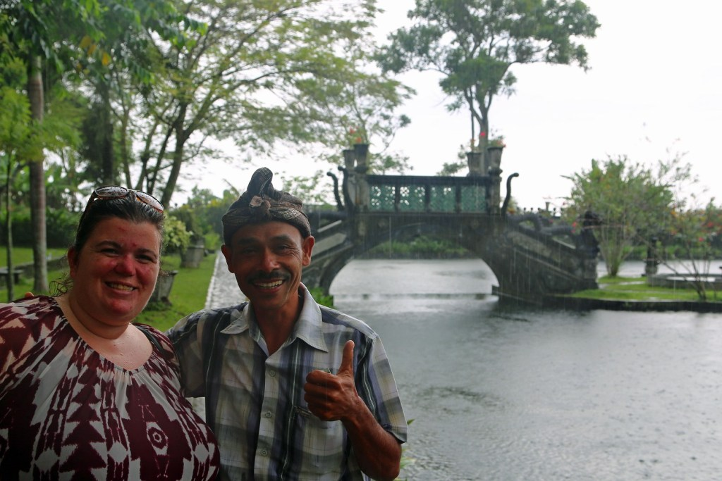 Tammilee with guide at Water Palace