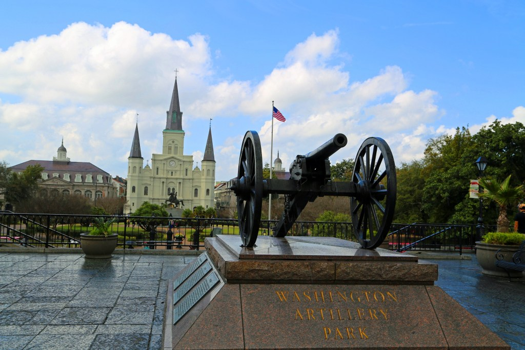 Washington Artillery Park and Jackson Square New Orleans
