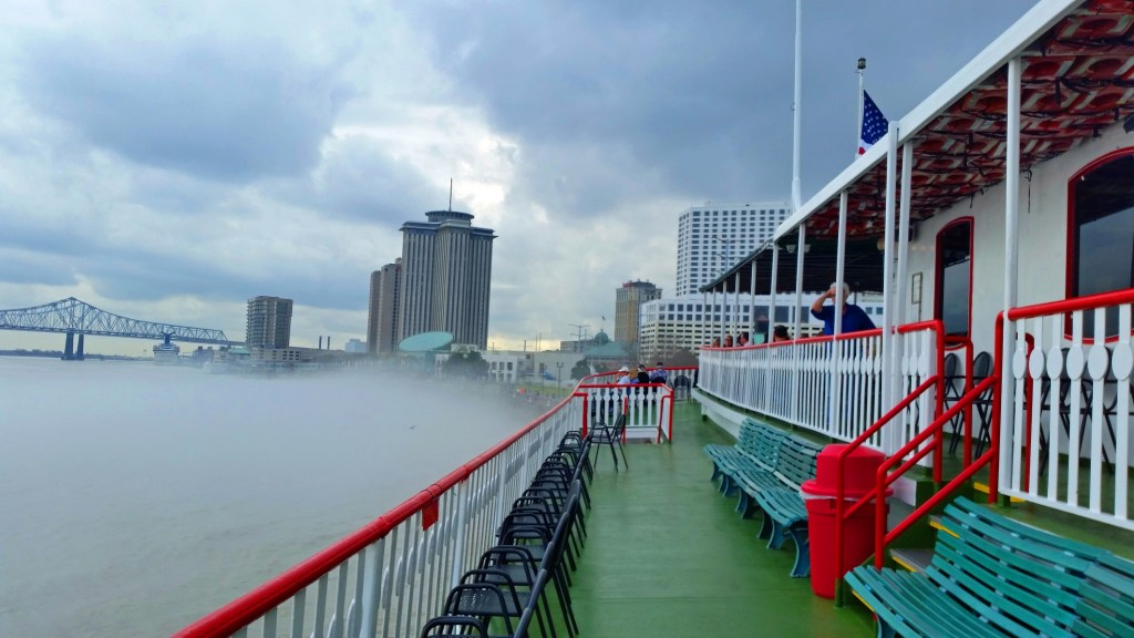 foggy day on the Steamboat Natchez New Orleans