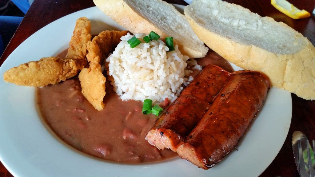red beans and rice Charters House New Orleans