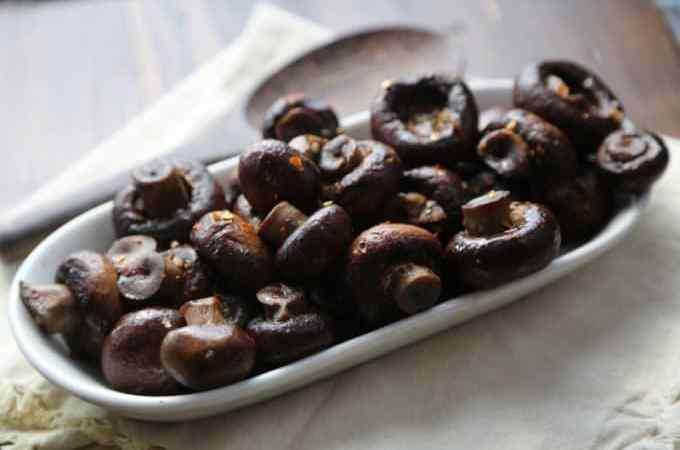 Slow Cooker Crock Pot Garlic Mushrooms Recipe