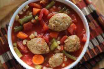 Crock Pot Vegetarian Meatball Soup