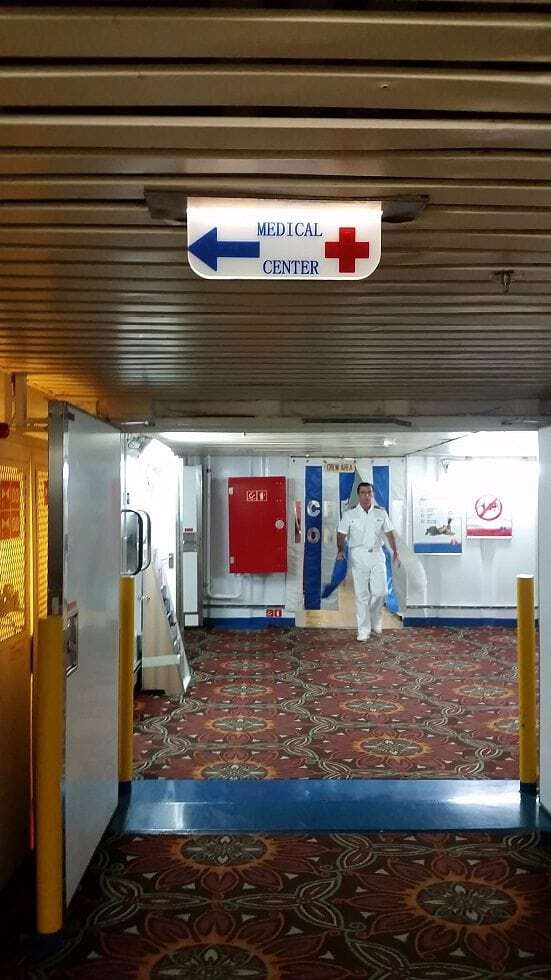 Amazing care from the Medical Center on the Carnival Conquest