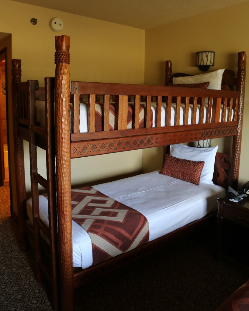 Animal Kingdom Lodge Family Room BunkBeds