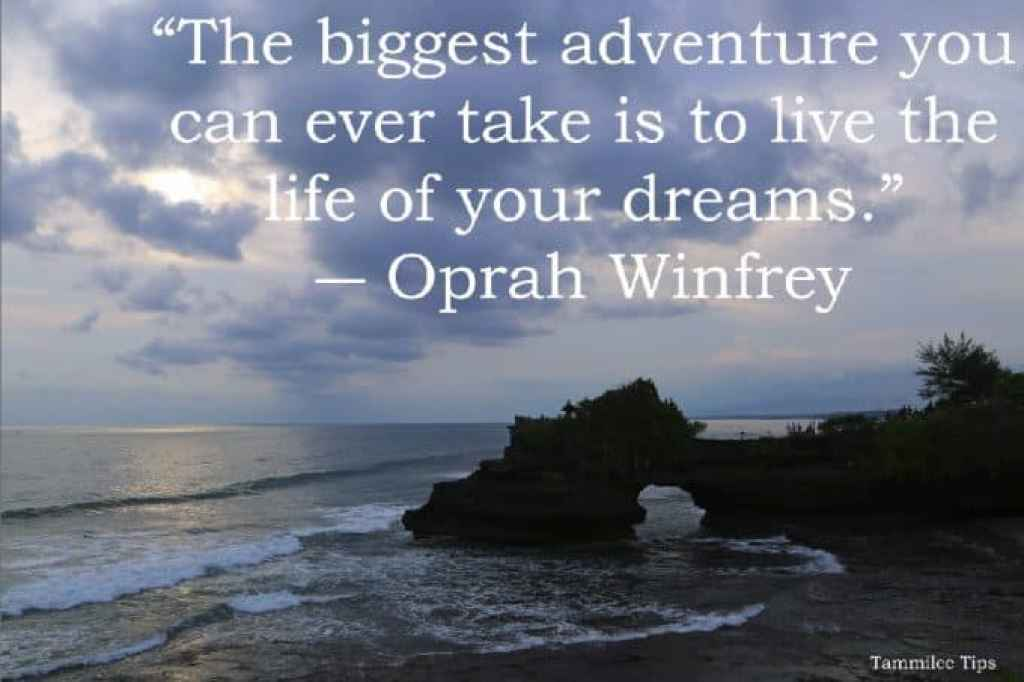 """The biggest adventure you can ever take is to live the life of your dreams."""""""